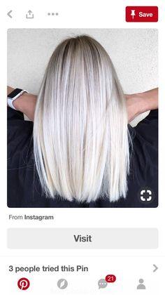 This spring, we love platinum blond. 35 shades of polar blond that will make you crack! Platinum Blonde Hair Color, Blonde Hair Shades, Blonde Color, Ash Blonde, Blonde Straight Hair, Platinum Blonde Highlights, White Blonde, Thin Hair, Ashy Hair