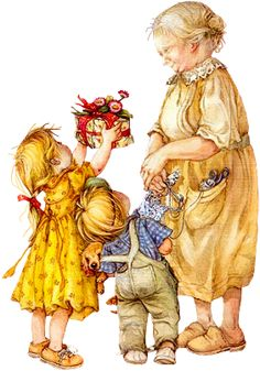 """(singing) """"To Grandmother's house we go"""" ... (sheanna)""""Look! Look! We brought you a present Nanie, a gift just for you."""" (jesse) """"It's from us Nanie! Open it! Open it! - Lisi Martin"""
