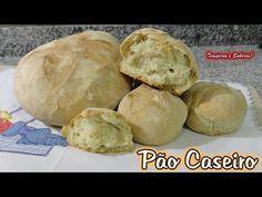 PÃO CASEIRO fácil de fazer com poucos ingredientes - YouTube Pan Bread, Bread Baking, Portuguese Recipes, Bread Recipes, Homemade, Food And Drink, Herbalife, Weddings, Youtube