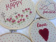 Embroidery hoop art Embroidery Hoop Art, Machine Embroidery, Extra Fabric, Peace And Love, It Works, Nailed It, Machine Embroidery Designs