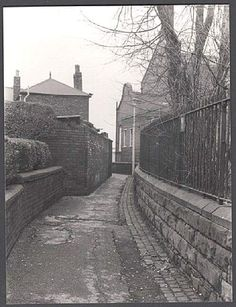 Park Avenue leading up to Swinton Baths and Halligans. Salford, Park Avenue, Local History, My Heritage, Old Pictures, Baths, Manchester, Places To Visit, Sidewalk