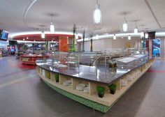 Cafeteria design by S2O Consultants. FCSI has members who are with S2O Consultants. #desgin #foodservice #cafeteria