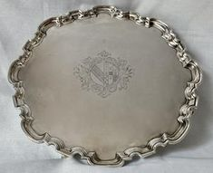 Georgian, George I, silver salver, London 1726 John Tuite, 38 troy oun – Bassetlaw Silver & Antiques Troy, Georgian, London, Antiques, Silver, Leather, Antiquities, Antique, Georgian Language