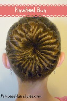 Pinwheel Bun Tutorial--wondering how hard this would be doing it on your own head....