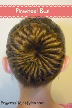 """Pinwheel bun"" tutorial"