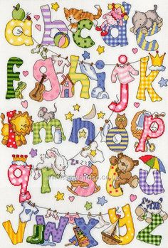 Buy My First Alphabet Cross Stitch Kit Online at www.sewandso.co.uk