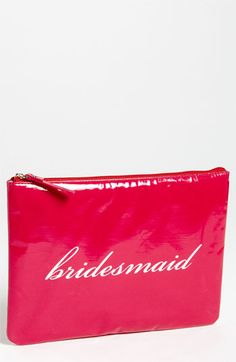 kate spade new york 'wedding belles - gia' cosmetics pouch @Nordstrom #WeddingSuite #Nordstrom