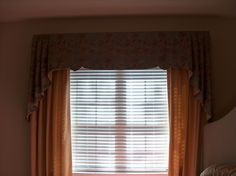 My new client and friend's bedroom valance & panels