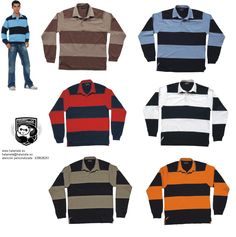 Polo rugby rayas hombre