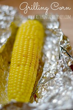 How to grill corn on the cob.