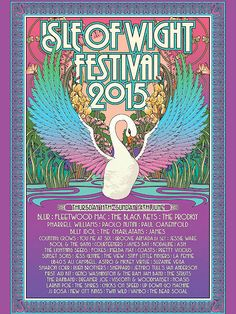 Every Isle Of Wight festival poster and line-up in history Festival Quotes, Festival Posters, Concert Posters, Music Posters, Band Posters, Jessie Ware, 60s Art, Isle Of Wight Festival, Rock Festivals