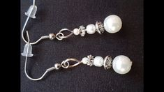 DIY EASY PEARL EARRINGS Easy Diy, Pearl Earrings, Make It Yourself, Pearls, Jewelry, Pearl Studs, Jewlery, Jewerly, Beads