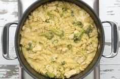 One-Pot Broccoli Cheddar Chicken Pasta