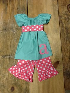 Girls Easter outfit. Peasant top & Ruffle by EverythingSorella, $59.50