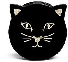 Charlotte Olympia 'Pussycat Purse' velvet crossbody bag