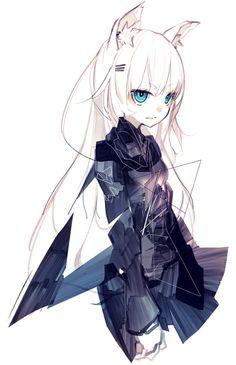 Resultado de imagen para anime wolf girl with white hair Anime Neko, Lolis Neko, Fanarts Anime, Anime Characters, Female Characters, Anime Wolf Girl, Manga Girl, Art Manga, Anime Art