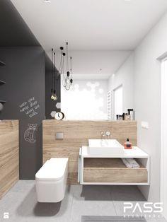 projekt 16 - Średnia łazienka na poddaszu w bloku w domu jednorodzinnym bez okna, styl skandynawski - zdjęcie od PASS architekci