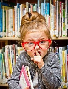 Little Librarian, books, little girl, kids photography--- So adorable!
