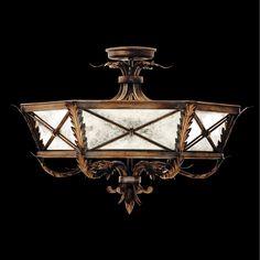 Fine Art Lamps Newport 3 Lights Burnished Gold Flushmount