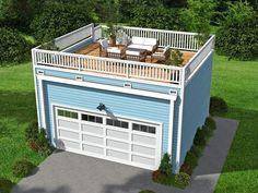 062G-0072: 2-Car Garage Plan with Mezzanine
