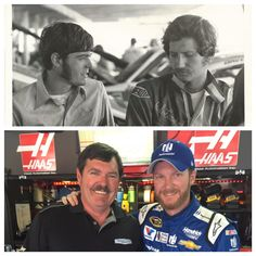 Norm Negre working with my father in 1975 at the World 600. And us 40 years later at this years World (Coca-Cola) 600. via @DaleJr