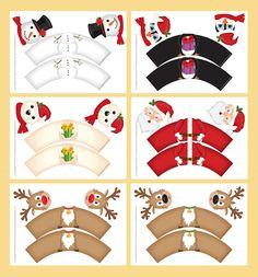 Seasonal Christmas Cupcake Wrappers