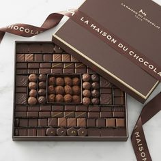 Williams Sonoma carries premium chocolate candies made with quality ingredients. Find chocolate truffles and holiday chocolate gift boxes at Williams Sonoma. Chocolate Gift Boxes, Chocolate Packaging, Chocolate Shop, How To Make Chocolate, Chocolate Truffles, Chocolate Lovers, Chocolate Angel, Marble Chocolate, Williams Sonoma