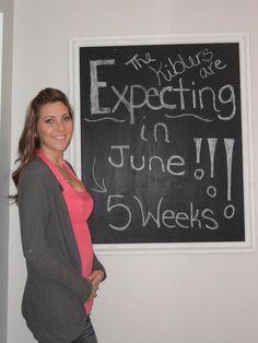 Pregnancy chalkboard