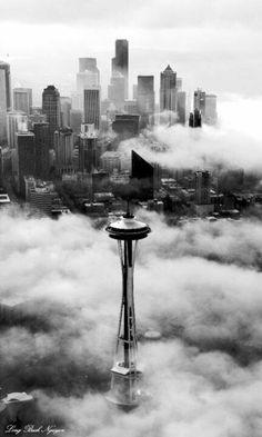 Impresionante vista de Seattle