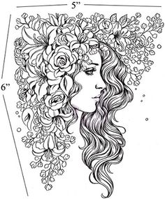 Prima princesses Natalie flower fairy woman cling rubber stamps with foam for acrylic block mounting