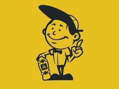 Active Ride Shop Mascot : Activerideshop mascot vector design by old dirty dermot bk ny Retro Cartoons, Vintage Cartoon, Cartoon Art, Graphic Design Posters, Graphic Design Illustration, Illustration Art, Vector Design, Logo Design, Active Ride Shop