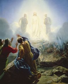 Transfiguration of Jesus - Jesus is transformed on the mountaintop in front of Peter, James, and John. His clothes became a dazzling white! -Mark 9