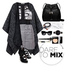 """Dare to mix"" by joklp ❤ liked on Polyvore featuring Victoria, Victoria Beckham, Carvela Kurt Geiger, Kate Spade, Olivia Burton, Chanel, Bobbi Brown Cosmetics, Lancôme, Karen Walker and patternmixing"