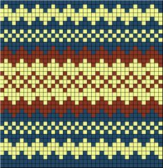 Fairisle pattern for boy's jumper Tapestry Crochet Patterns, Fair Isle Knitting Patterns, Fair Isle Pattern, Knitting Charts, Mosaic Patterns, Knitting Stitches, Knitting Socks, Knitted Hats, Crochet Chart