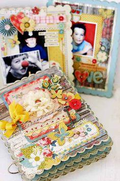 Linda Albrecht - Faces That Make Me Smile Mini Album Kit - Click Image to Close