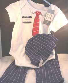 NEW FIRST IMPRESSIONS BABY BOYS 3 PIECE EXECUTIVE TOP PANTS HAT SIZE 3-6 MONTHS #FIRSTIMPRESSIONS #DressyEverydayHoliday