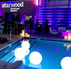 Put this led ball in your swimming pool,really amazing