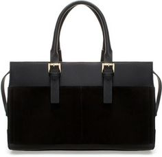 Combined Leather Bowling Bag on shopstyle.com