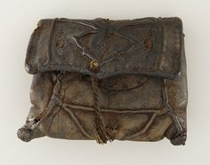 Man's Leather Purse/Pouch - Germany or Holland - 14th century