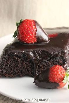 Greek Sweets, Greek Desserts, Greek Recipes, Dark Chocolate Cakes, Chocolate Muffins, Cake Cookies, Cupcake Cakes, Food Network Recipes, Food Processor Recipes