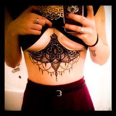 Delight Underboob Mandala Tattoo