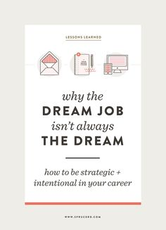Why the Dream Job Is