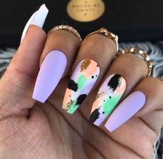Summer nails pretty nails for summer, summer stiletto nails Dope Nails, Fun Nails, Bling Nails, Swag Nails, Acrylic Nail Designs, Nail Art Designs, Acrylic Nails, Square Nail Designs, Acrylics