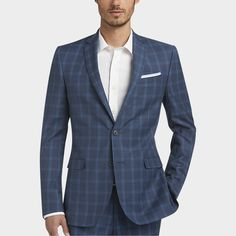Buy a Egara Blue Plaid Extreme Slim Fit Suit and other Slim Fit at Men's Wearhouse. Browse the latest styles, brands and selection in…