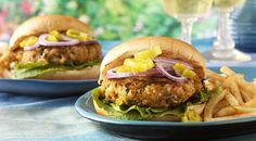 Cajun Shrimp Burgers with Tartar Sauce Recipe by Jamie Purviance