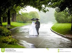Photo about Beautiful just married couple under umbrella walking away on road at park. Image of groom, back, portrait - 39342215 Just Married, Getting Married, I Care Too Much, I M Engaged, Talk About Love, Couples Walking, Something Borrowed, Let Her Go, I Wish I Knew