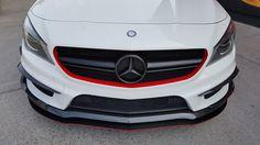 Mercedes CLA45 AMG Matte Black Grill & Matte Red Grill Rim