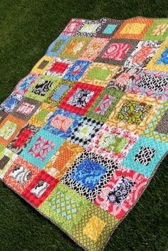 I really love this one! A big scrappy quilt!