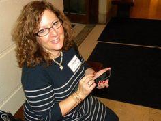 Linda Bernstein (@WordWacker), dear friend of Amy Vernon. I wear my spectacles in homage to her.