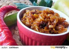 Toustová zeleninová směs s hlívou recept - TopRecepty.cz Chili, Soup, Chile, Chilis, Soups, Chowder